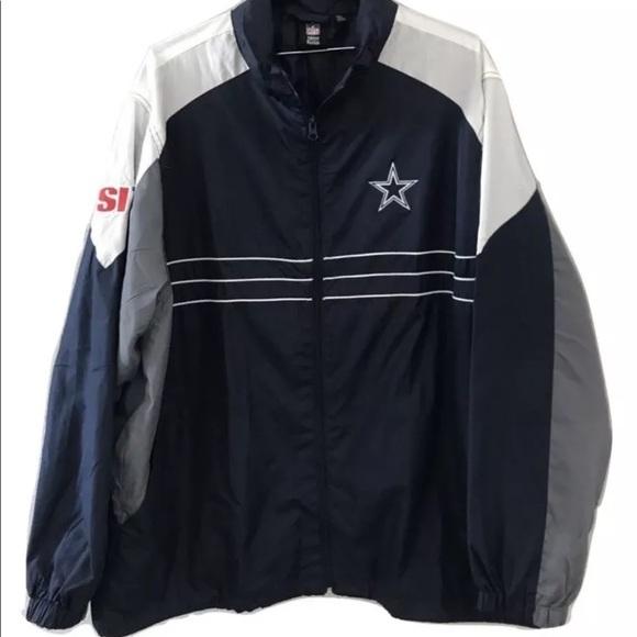 4c05e4aae NFL Dallas Cowboys Windbreaker Jacket SI. M 5b775ba04cdc3064c2c1d609